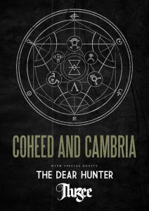 Coheed and Cambria tour poster - The Dear Hunter, 3